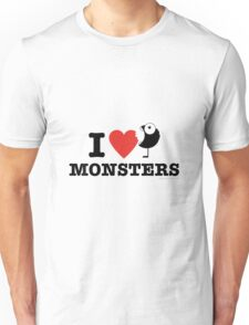 I love monsters Unisex T-Shirt