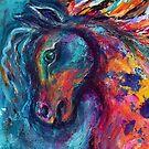 Horse ( head close -up )  by Karin Zeller