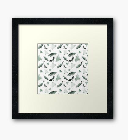 Watercolor Moths Framed Print