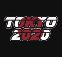 Tokyo 2020 Logo - Japanese Flag by graphix