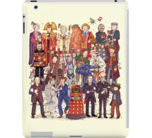 The party doesn't start until the Doctor walks in...twelve times iPad Case/Skin