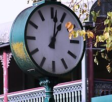 Clock in Healesville -  Country Victoria by Joy Watson