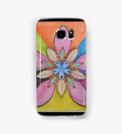 psychedelic flower Samsung Galaxy Case/Skin