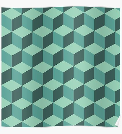 Geometric vector background Poster
