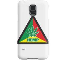 Caution Hemp Marijuana Sign Rastafarian Samsung Galaxy Case/Skin