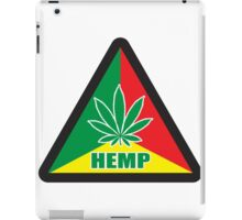 Caution Hemp Marijuana Sign Rastafarian iPad Case/Skin