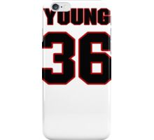 NFL Player Darrel Young thirtysix 36 iPhone Case/Skin