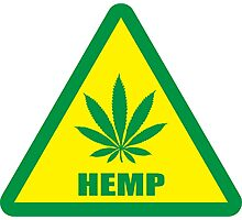 Caution Hemp Marijuana sign Photographic Print