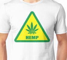 Caution Hemp Marijuana sign Unisex T-Shirt