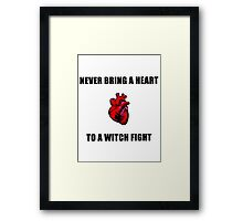 Witch Fight Heart Framed Print