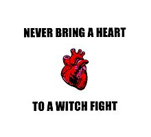Witch Fight Heart Photographic Print