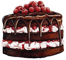 Chocolate Raspberry Cake by Kelly  Gilleran