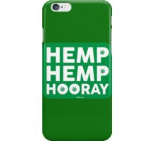 Hemp Hemp Hooray White Green iPhone Case/Skin