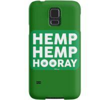 Hemp Hemp Hooray White Green Samsung Galaxy Case/Skin