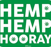 Hemp Hemp Hooray White Green by LGdesigns
