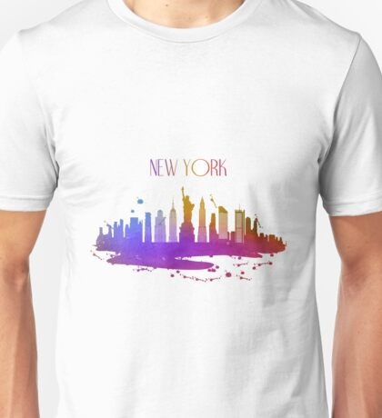 Watercolor New York Skyline Unisex T-Shirt