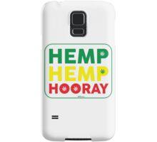 Hemp Hemp Hooray Rasta Rastafarian White Samsung Galaxy Case/Skin