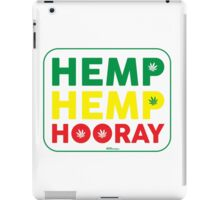 Hemp Hemp Hooray Rasta Rastafarian White iPad Case/Skin
