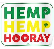 Hemp Hemp Hooray Rasta Rastafarian White Poster