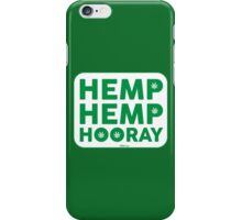 Hemp Hemp Hooray Green White iPhone Case/Skin