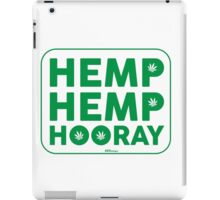 Hemp Hemp Hooray Green White iPad Case/Skin