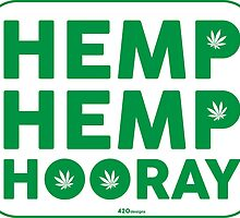 Hemp Hemp Hooray Green White by LGdesigns