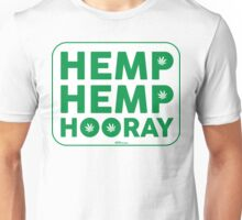 Hemp Hemp Hooray Green White Unisex T-Shirt