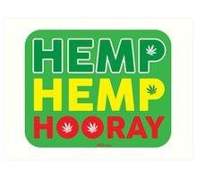 Hemp Hemp Hooray Rasta Rastafarian Green Art Print