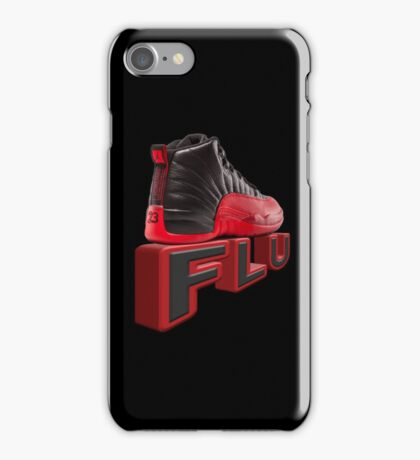 flu game jordans iPhone Case/Skin