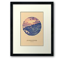 Focus To See The Light Framed Print