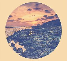 Distant Sun on a Distant Shore - Circle Print by solnoirstudios