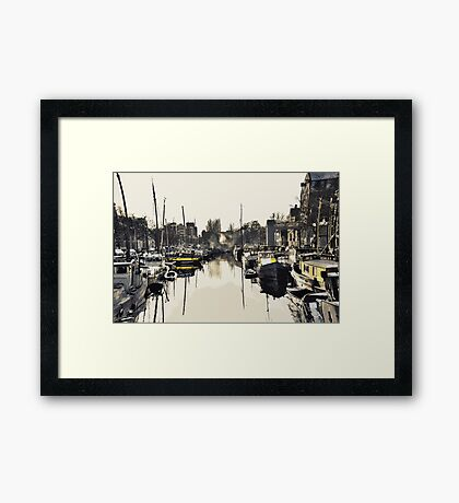 Gold Boats Framed Print