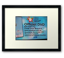 Adelaide Christmas Pageant 2014 ad DVD Framed Print