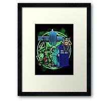 Doctor Moo and Clara -alt Framed Print