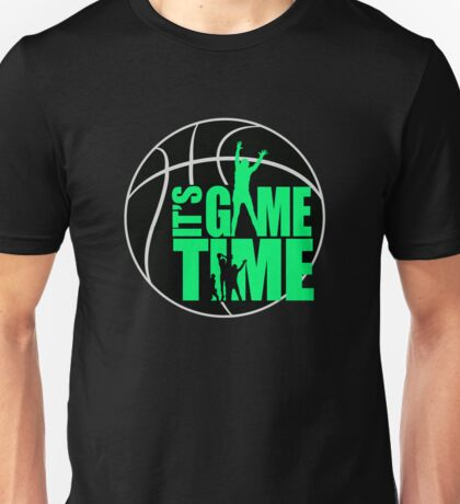 It's Game Time - Green Unisex T-Shirt