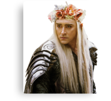 Flower Crown Thranduil Canvas Print