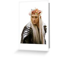 Flower Crown Thranduil Greeting Card