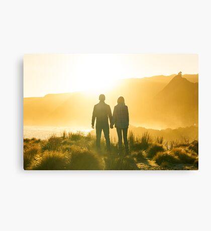 Golden Couple Canvas Print