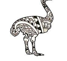 Henna Ostrich by BakmannArt