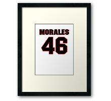 NFL Player Anthony Morales fortysix 46 Framed Print