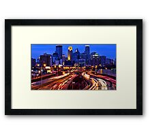 Minneapolis Saturday Night Framed Print