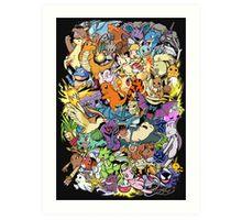 Gen I - Pokemaniacal Colour Art Print