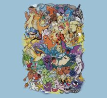 Gen I - Pokemaniacal Colour Kids Clothes