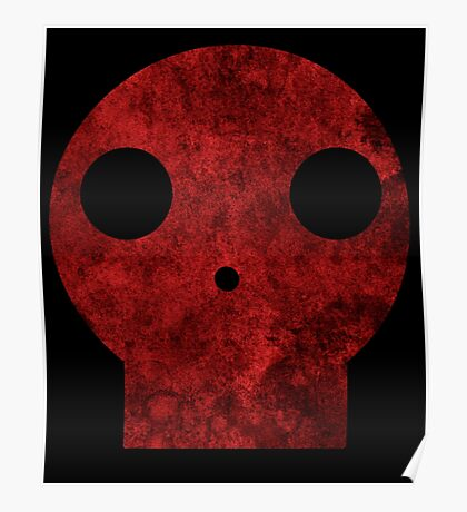 Skull red decay  Poster