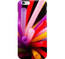 Colorful drinking straws iPhone Case/Skin