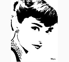 Audrey Simply Beautiful in Black and White T-Shirt