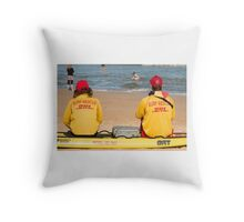 Surf Rescue Team Sydney Throw Pillow