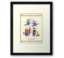 Mischievous Magical Merriment Framed Print