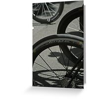 It's all about the wheels... Greeting Card