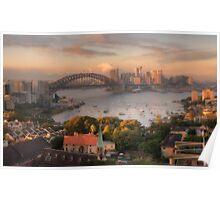 Velvet - Sydney  Harbour Sydney Australia - The HDR Experience Poster